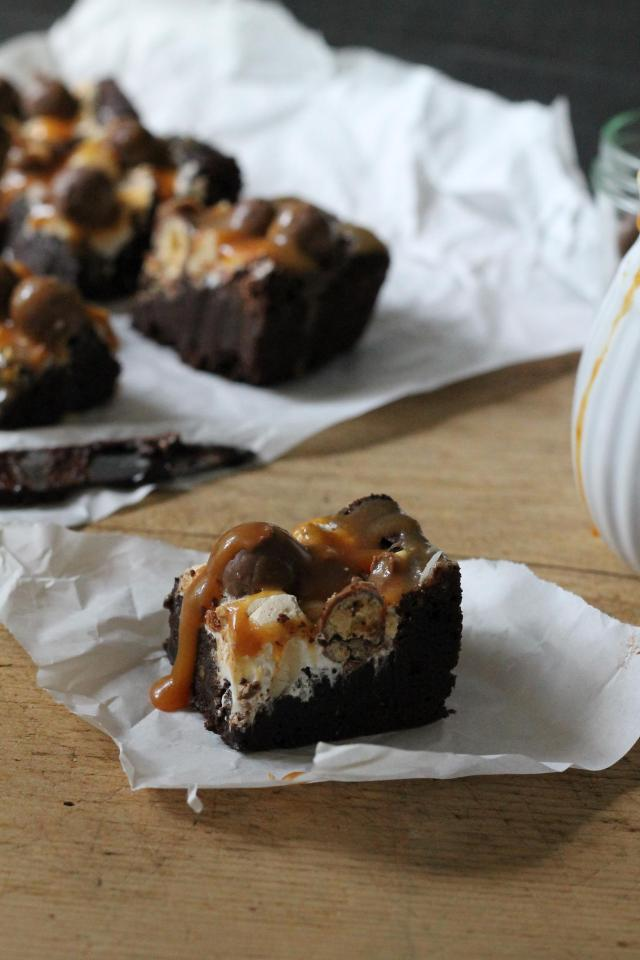 Rocky Road Brownies Karamell 2