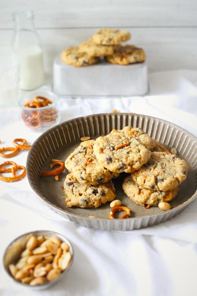 Brezel-Erdnuss-Cookies